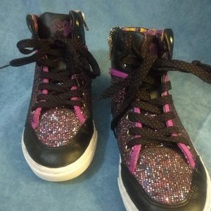 Disney Shoes, D-Signed, Glitter, High Top Sneakers